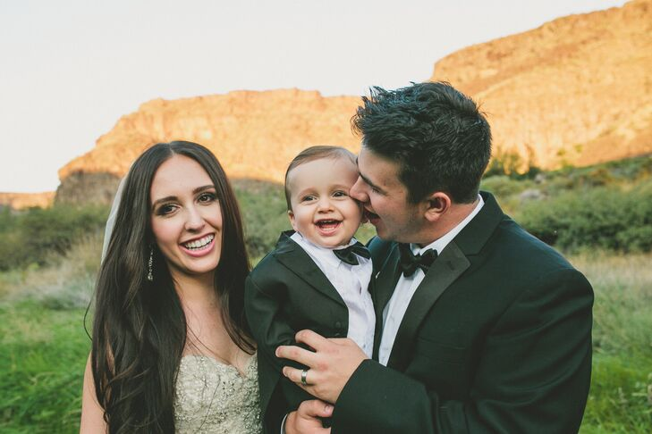 "Elle and Kalen reconnected after college. After dating for two years, the couple had their little boy, Beckett Jack Smith. ""He is the light of our life,"" Elle says."