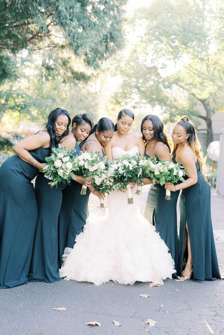 Bridesmaids for Wedding in Yountville, California