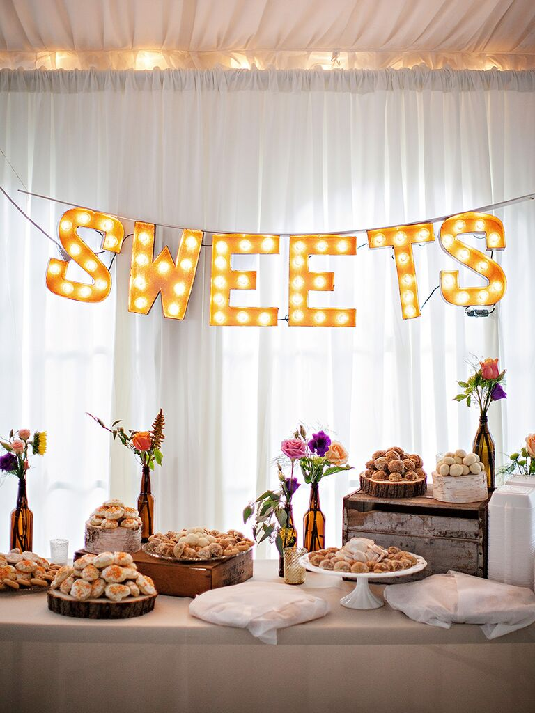 Sweets Dessert Station For A Wedding Reception
