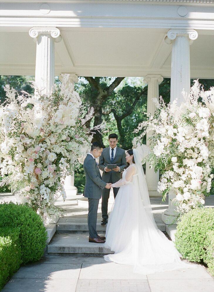 Flower-Filled Wedding Ceremony at Montalvo Arts Center in Saratoga, California