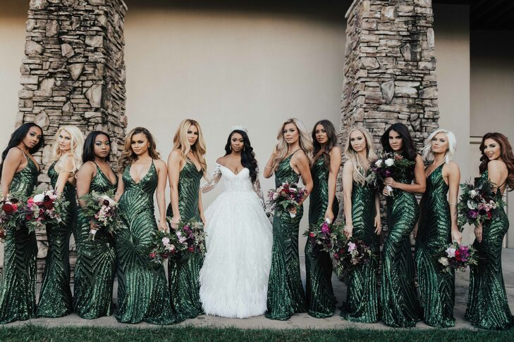 Glamorous Emerald Green Bridesmaid Dresses