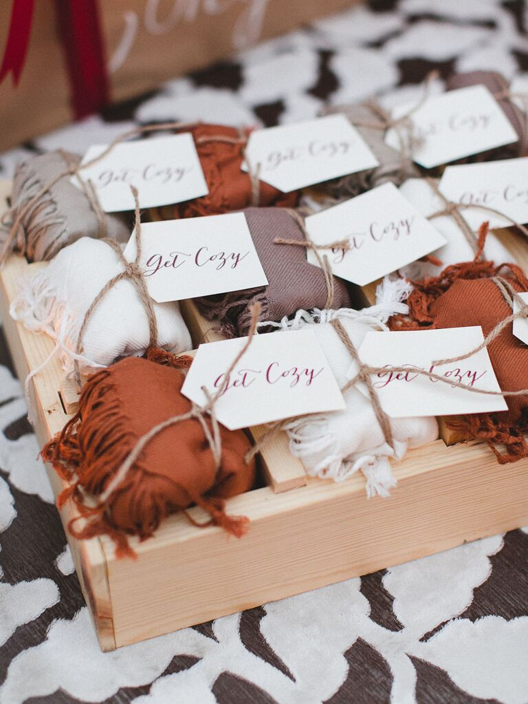Scarf wedding favors