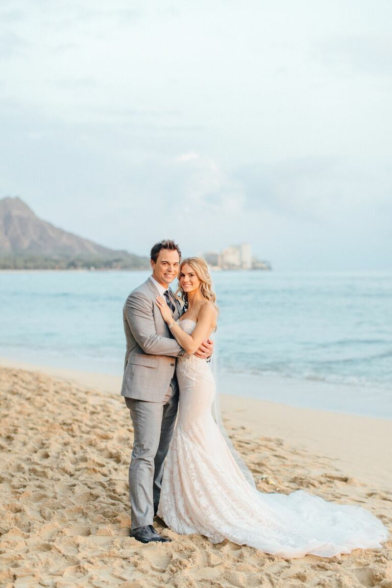 Kelly Kruger and Darin Brooks's wedding in Honolulu, Hawaii
