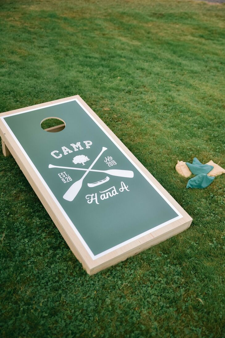 Custom Corn Hole Boards for Poconos Wedding
