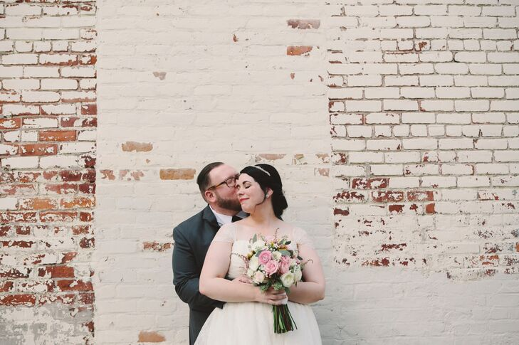 For their romantic, vintage wedding in Ann Arbor, newlyweds Alex Hayes (25 and a non-profit fundraiser) and Don Armstrong (28 and a plumber) kept thin