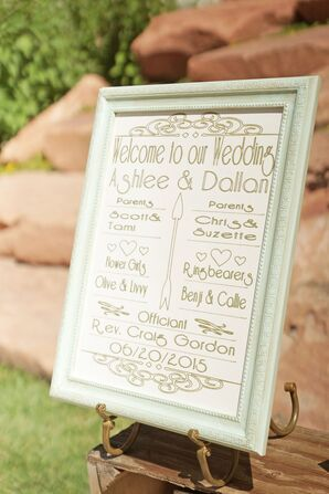 Mint-Framed Ceremony Sign