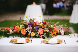 Whimsical Fall-Inspired Floral Centerpiece