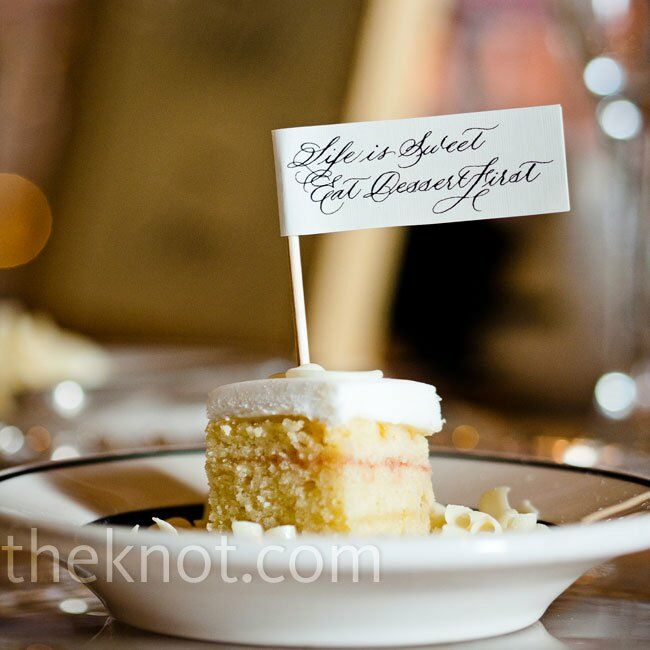 Calligraphy Cake Tags