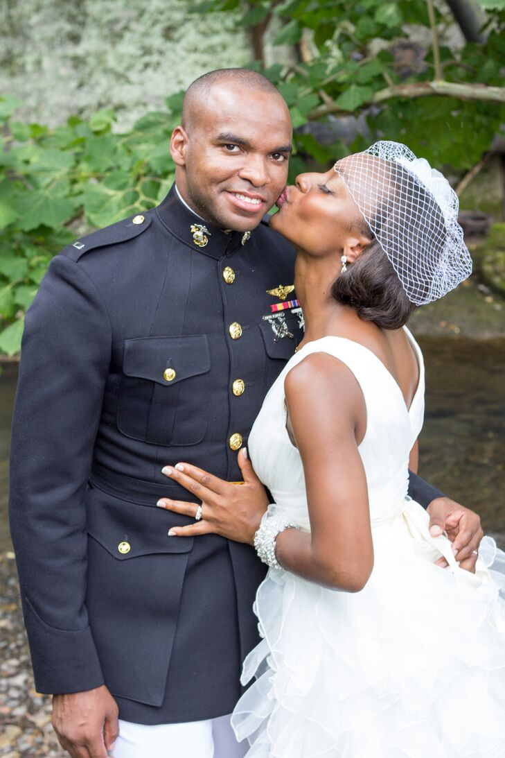 Terri Baker (28 and an academic adviser) and Jerome Miller (27 and a US Marine Corps pilot) had their wedding in the South, and fully embraced their g