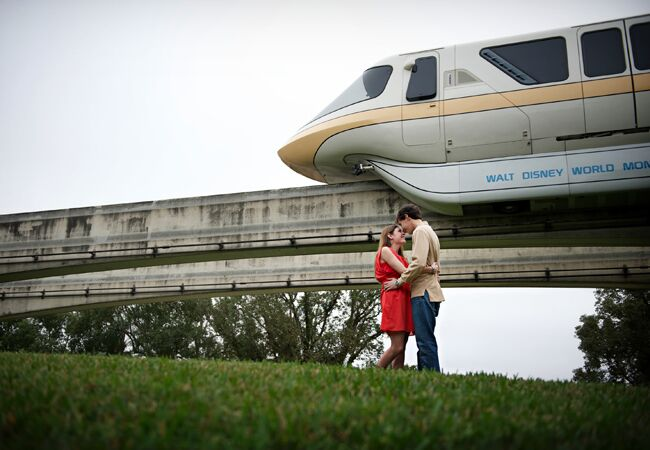 Monorail Engagement Photo | Portrayable Photography | From: Blog.theknot.com