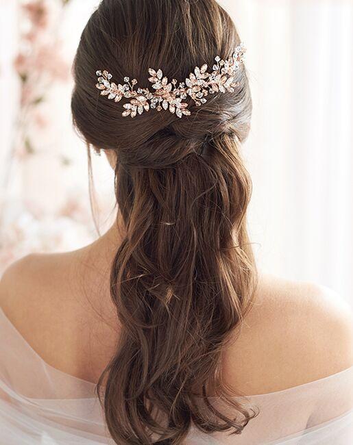 Dareth Colburn Paislee Rose Gold Wedding Comb (TC-7095) Gold Pins, Combs + Clip
