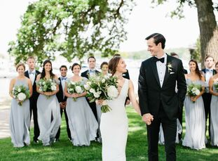 Emily Bruksch and Patrick Hechinger kept things classic for their wedding at The Abbey Resort in Fontana-On-Geneva-Lake, Wisconsin. Emily wore a simpl