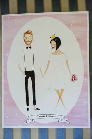 DIY Drawing of the Bride and Groom