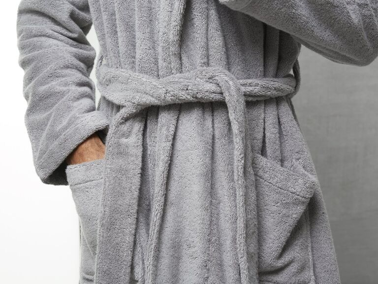 Soft bath robe 25th anniversary gift for him