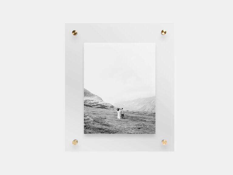 Artifact Uprising Float Frame cool wedding gift ideas