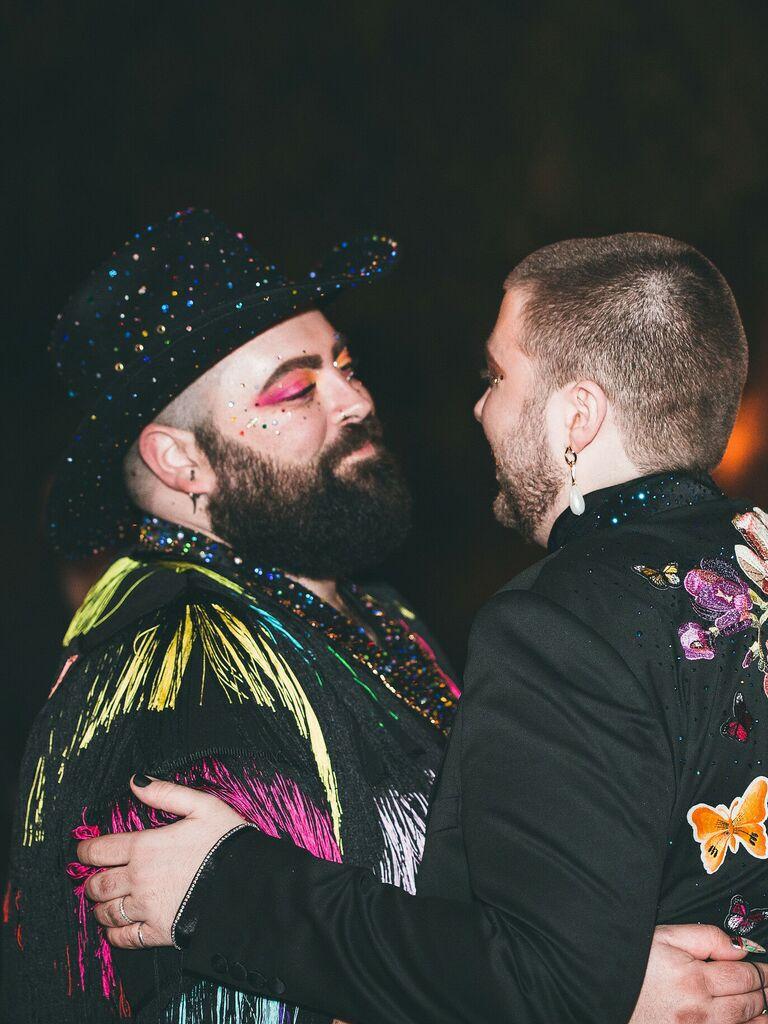 wedding makeup pink eyeshadow with glitter