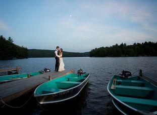 With family and friends coming from as far away as Tokyo, Japan to celebrate their nuptials, Miranda Wegricht (27 and a registered financial advisor a