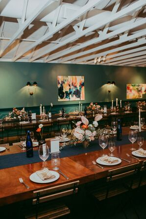 Elegant Mid-Century Modern Reception at The Fig House in Los Angeles