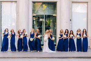 Royal Blue Floor-Length Bridesmaid Dresses