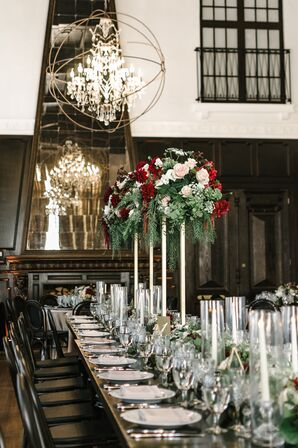 Geometric Chandeliers and Tall Cascading Centerpieces