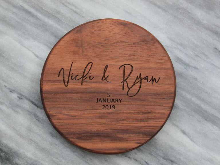 Personalized wood coaster