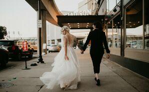 Wedding Portraits at Urban Detroit Wedding