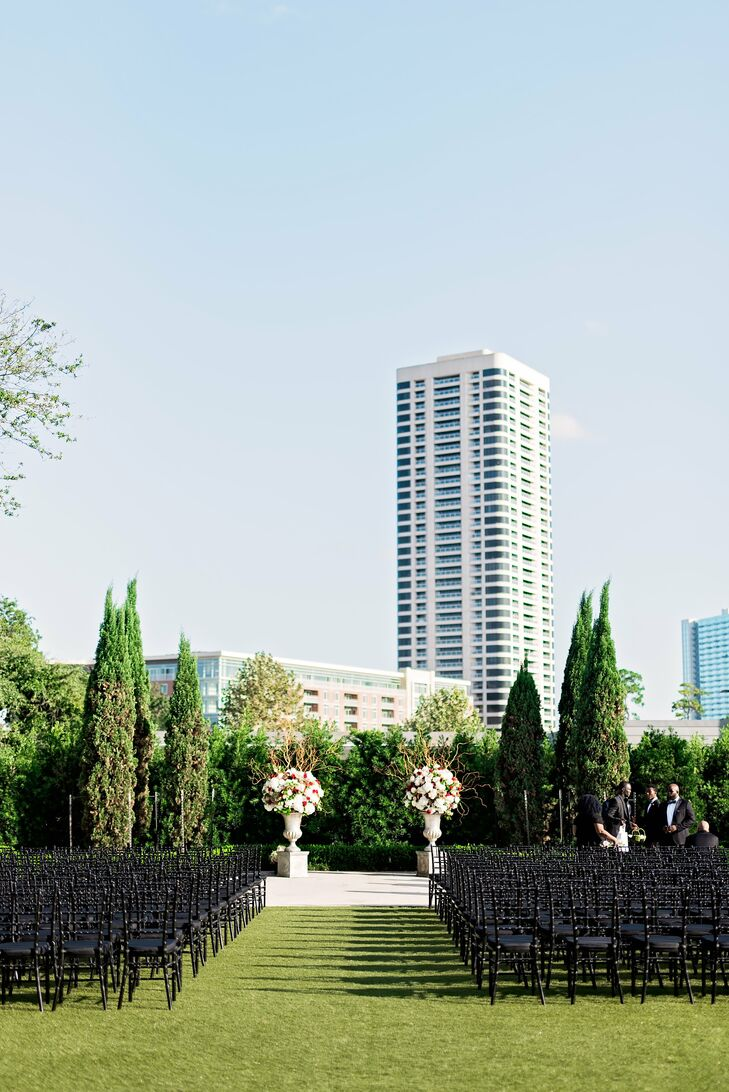 Outdoor Ceremony at Hermann Park in Houston, Texas