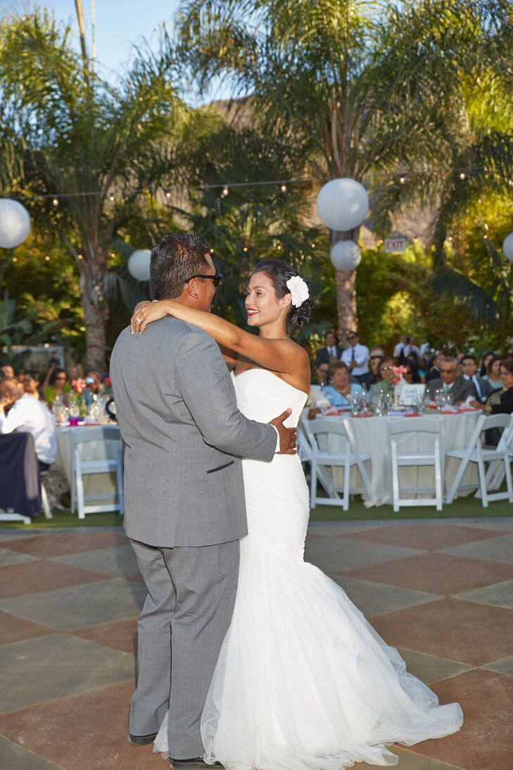 The happily married couple shared their first dance at Tropical Paradise in Camarillo, California.