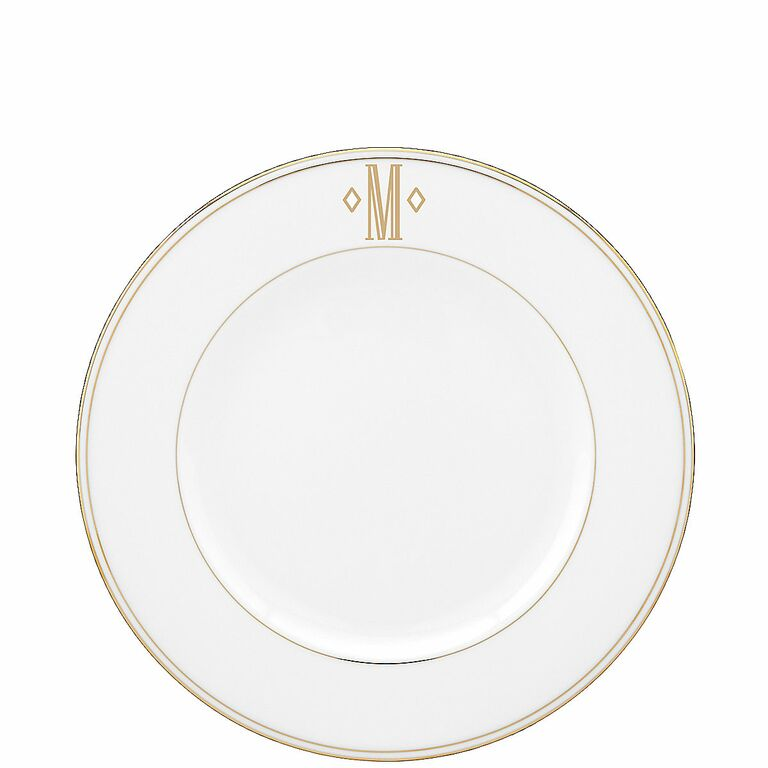 Lenox federal gold monogram block accent plate  sc 1 st  The Knot & Wedding Registry Dinnerware Inspired by Movies