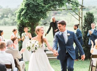 Shannon Puskas (28 and a human resources generalist) and Trevor Ikwild (26 and a financial professional) celebrated their marriage surrounded by famil