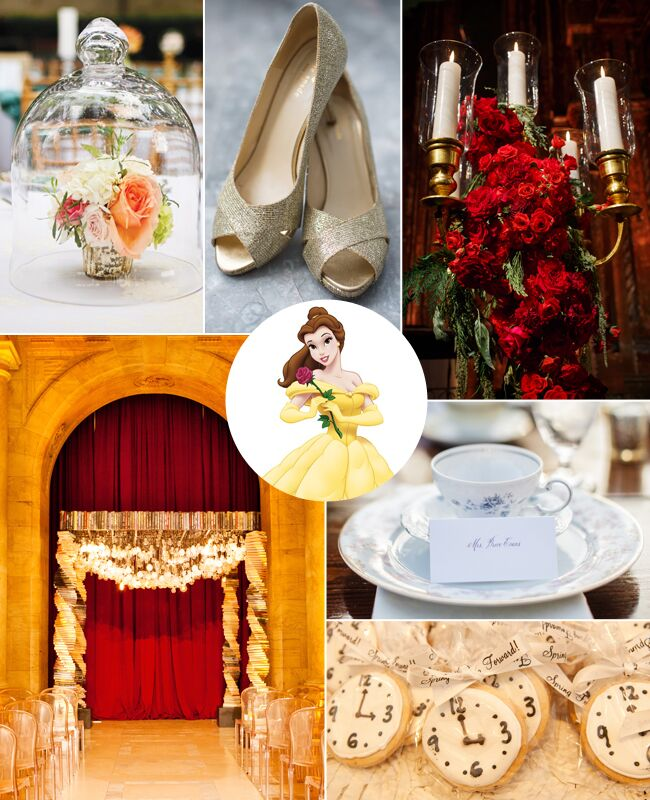 Belle: What Your Favorite Disney Princess Says About Your Wedding Style / TheKnot.com