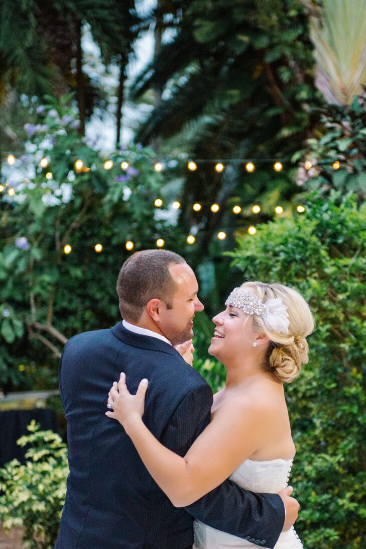 """Lona and Bryan danced to """"Can't Take my Eyes Off You"""" by Frankie Valley. """"Surprisingly, our first dance turned out much better than I had anticipated even though we never practiced,"""" Lona says. """"It was perfectly us."""""""
