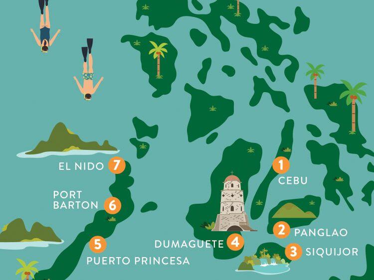 The Philippines map illustration