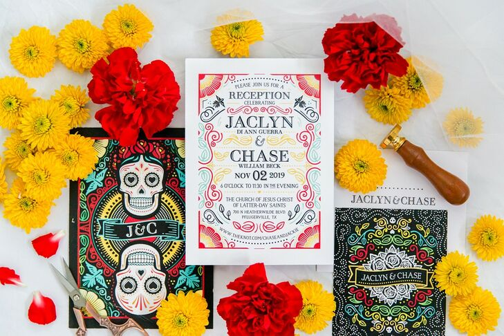 Colorful Wedding Invitations Inspired by Day of the Dead