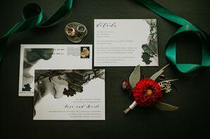 Wedding Invitations for Urban Rooftop Wedding in Detroit, Michigan