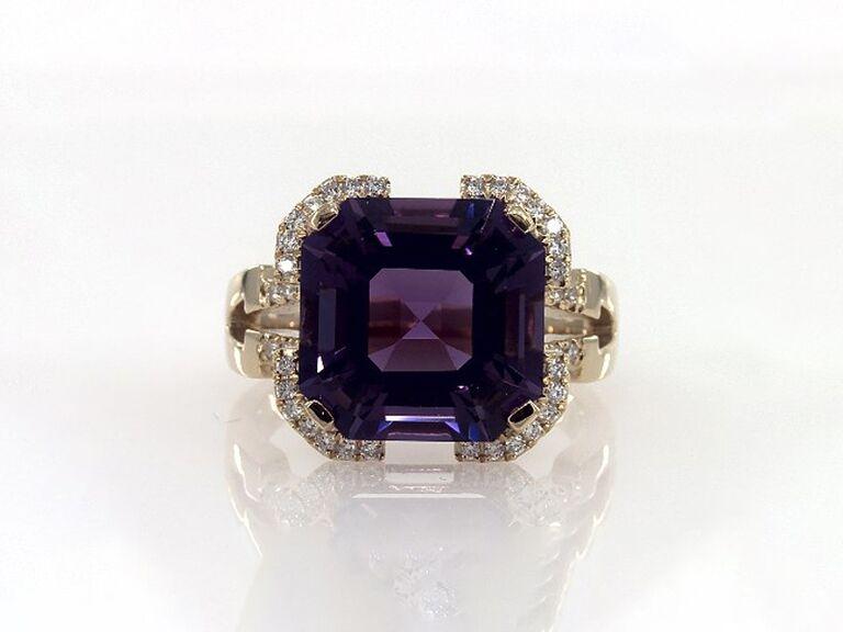 lustrous amethyst birthstone ring