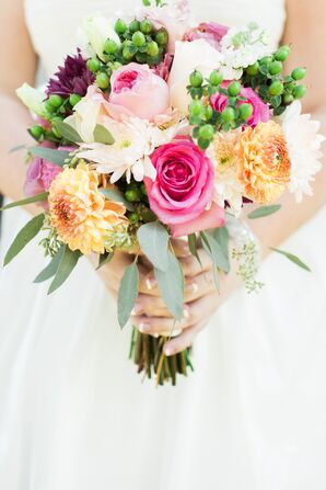 Bright, Colorful Bridal Bouquet in Minnesota