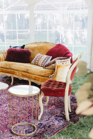 Bohemian Lounge Furniture and Table at Cocktail Hour