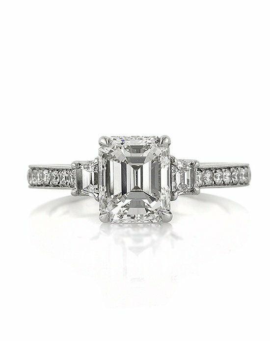 Mark Broumand 2.81ct Emerald Cut Diamond Engagement Ring ...