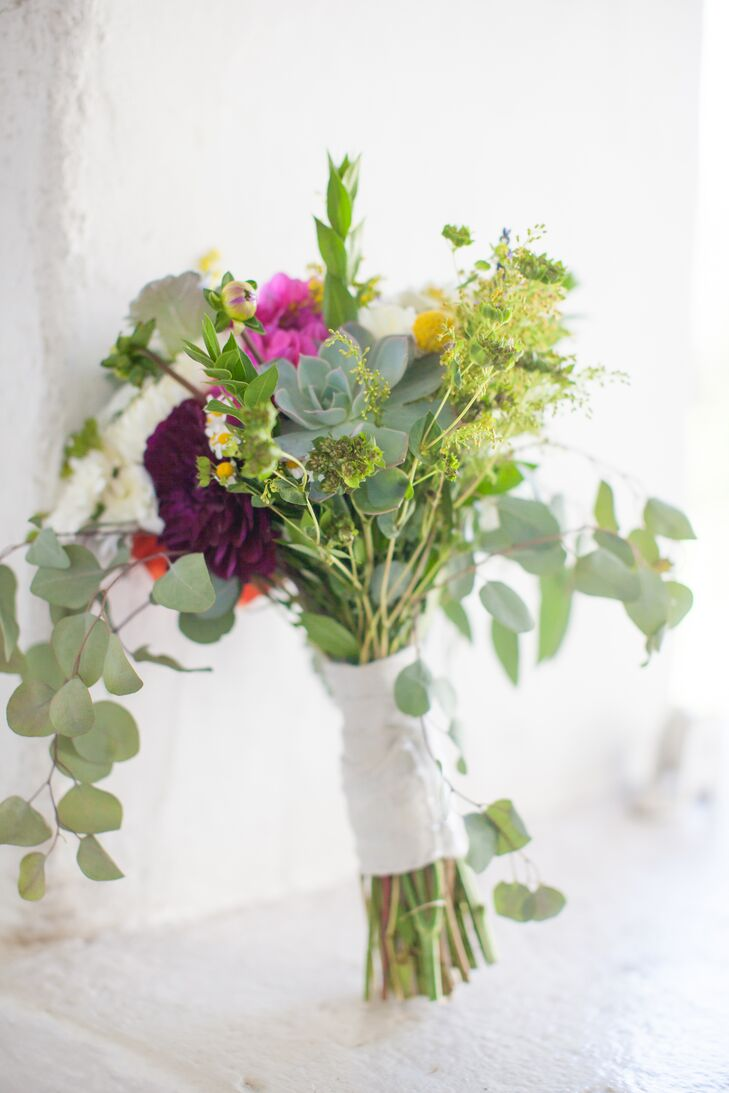 """""""The flowers and my bouquet were easy,"""" Sarah says. """"I told my childhood friend that I wanted local wildflowers and let her work her magic."""""""