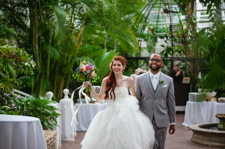 A Natural, Modern Wedding at Franklin Park Conservatory in Columbus, Ohio