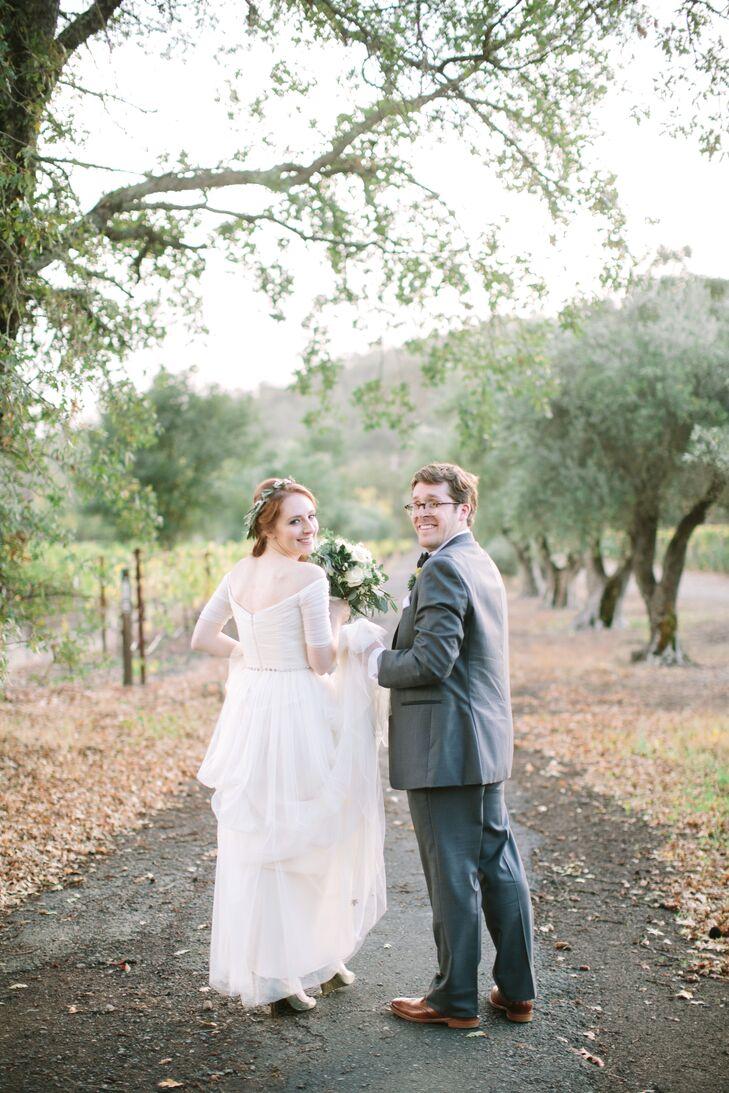Charles Krug Winery Bride and Groom Photo