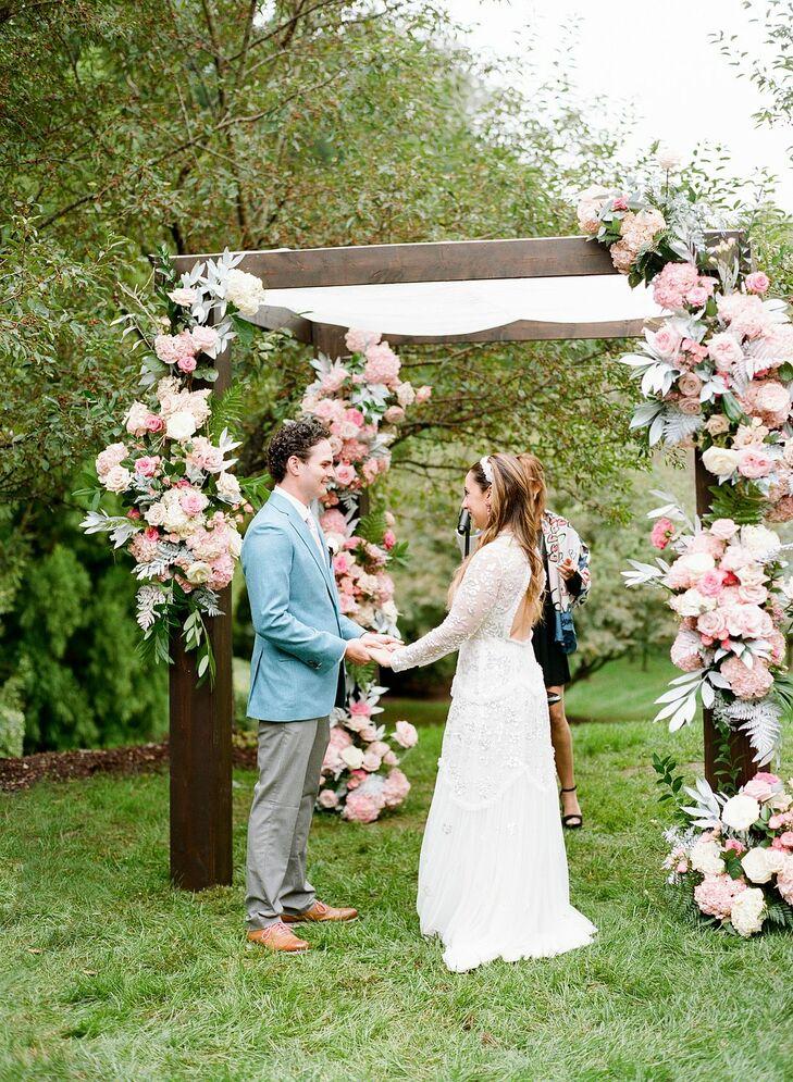 Backyard Wedding Ceremony in Potomac, Maryland