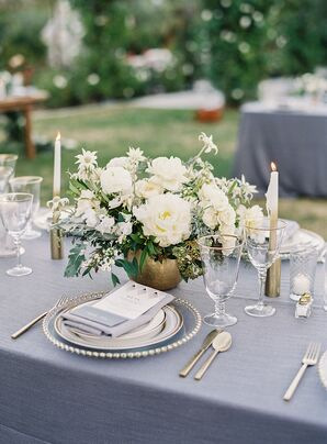 Sophisticated Gray and Gold Tablescapes