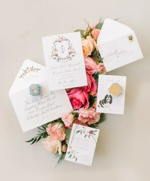 Wedding Paper Suite at The Lace House in Columbia, South Carolina