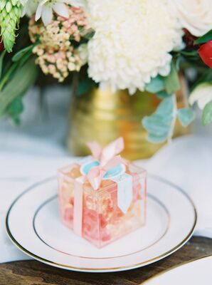 Sugarfina Champagne Gummy Favors in Clear Boxes