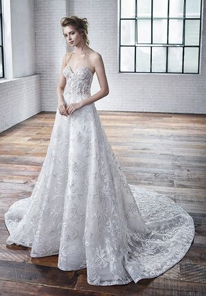 Badgley Mischka Bride Charlene A-Line Wedding Dress