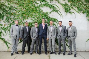 Matching Gray Groomsmen Suits