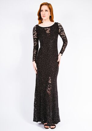 Grayse Wedding Party Stardust Siren Gown - W142P010 Black Mother Of The Bride Dress