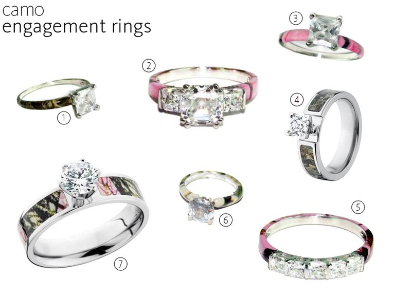 7 Camo Engagement Rings